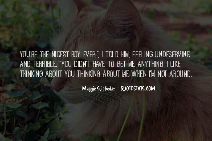Feeling Terrible Quotes #1254623