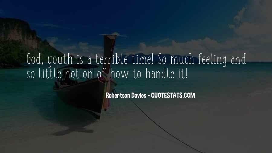 Feeling Terrible Quotes #1266991