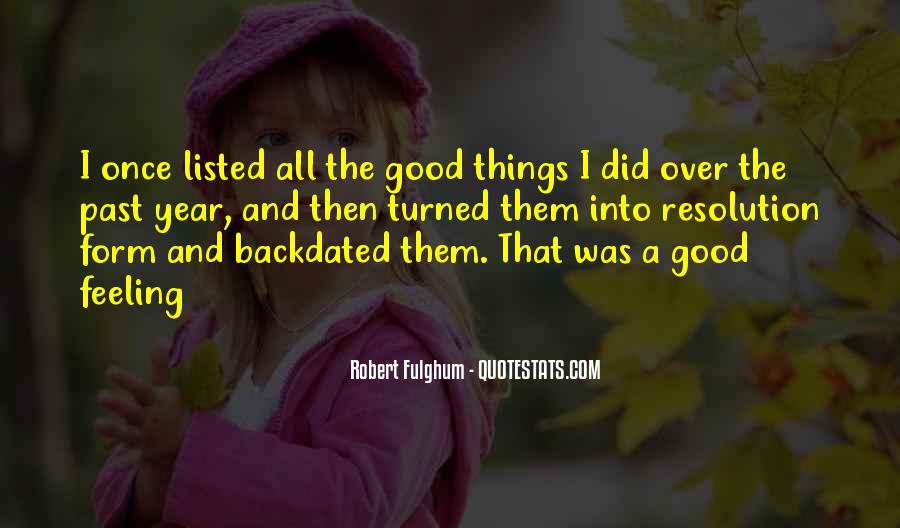 Feelings From The Past Quotes #1615