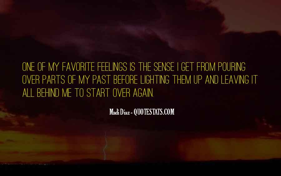 Feelings From The Past Quotes #556705