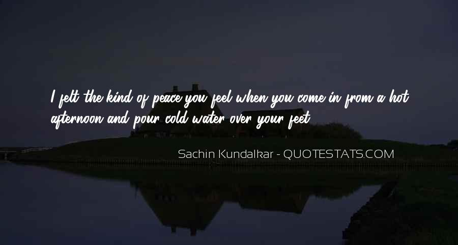 Feet In Water Quotes #66173