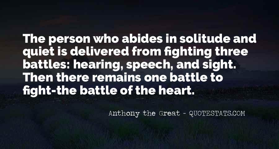 Fight The Battle Quotes #14261