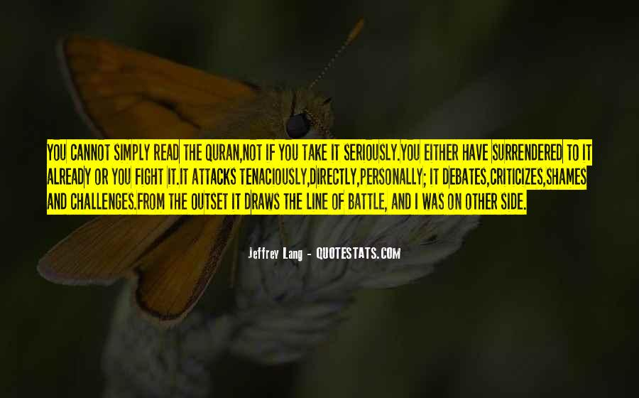 Fight The Battle Quotes #401150