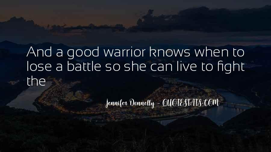 Fight The Battle Quotes #67181