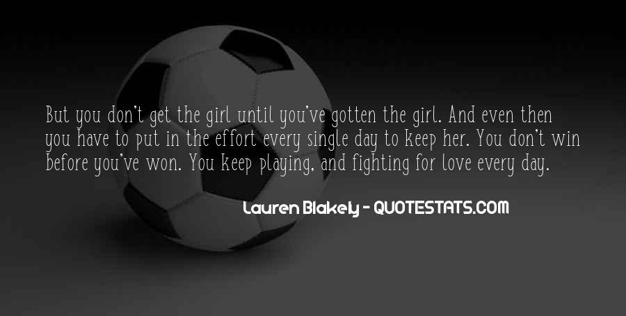 Fighting For You Love Quotes #53590