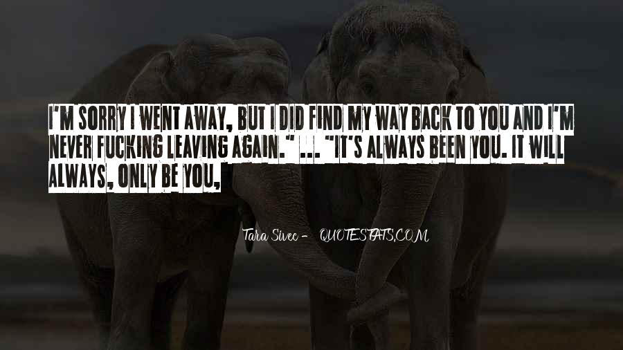 Find My Way Back Quotes #189449