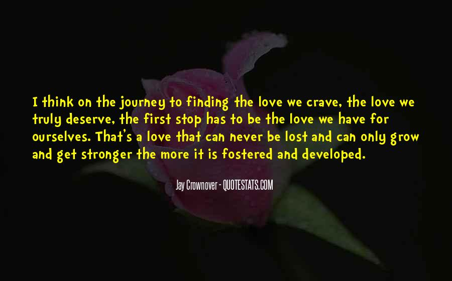 Finding Someone You Deserve Quotes #1731363