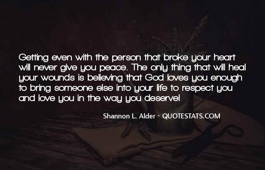 Finding Someone You Deserve Quotes #978624