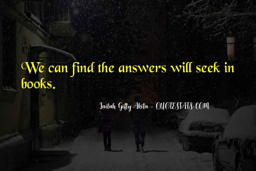 Finding The Answers Quotes #136058