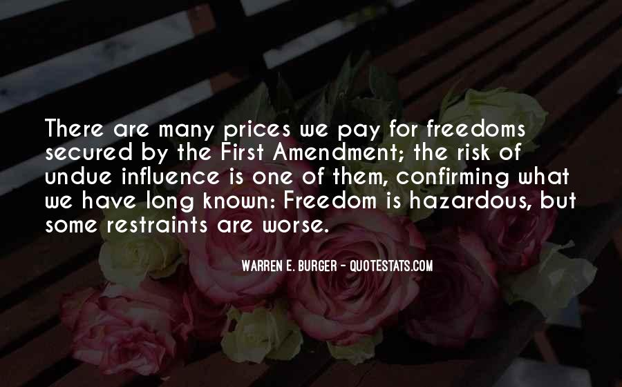 First Amendment Freedoms Quotes #696313