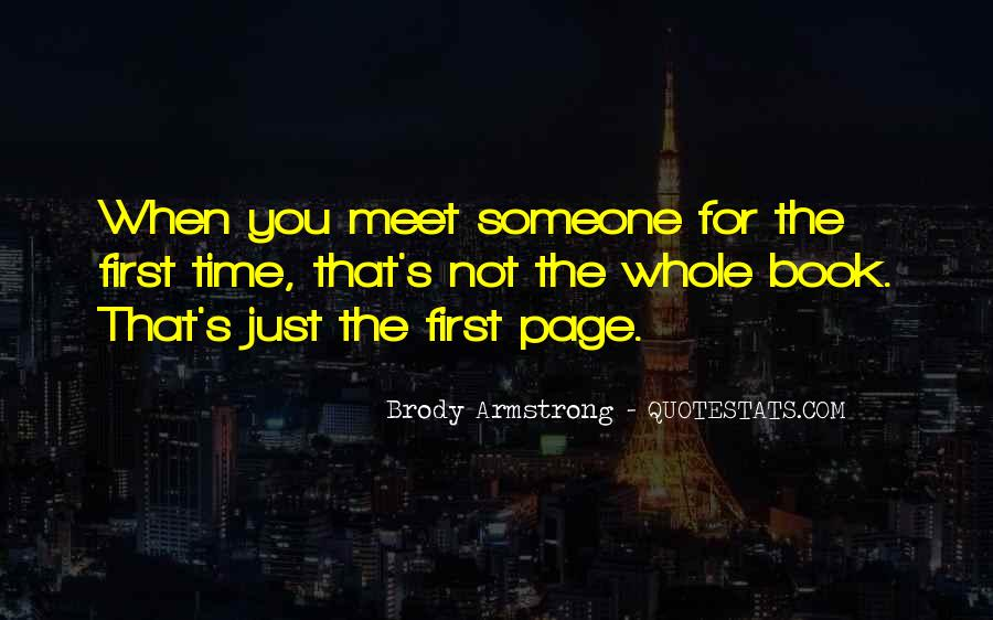 First Time Meet You Quotes #633999