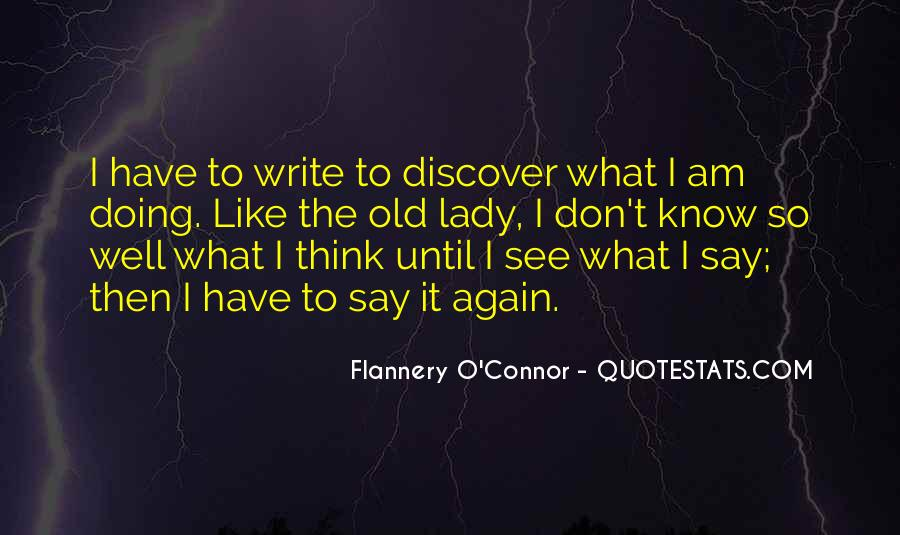 Flannery O'connor Writing Quotes #344638