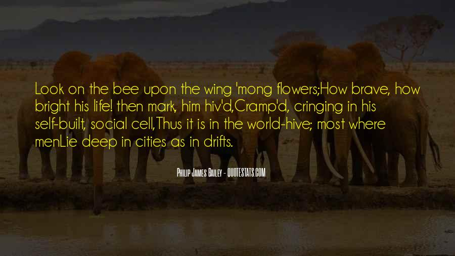 Flower And Bee Quotes #1307178