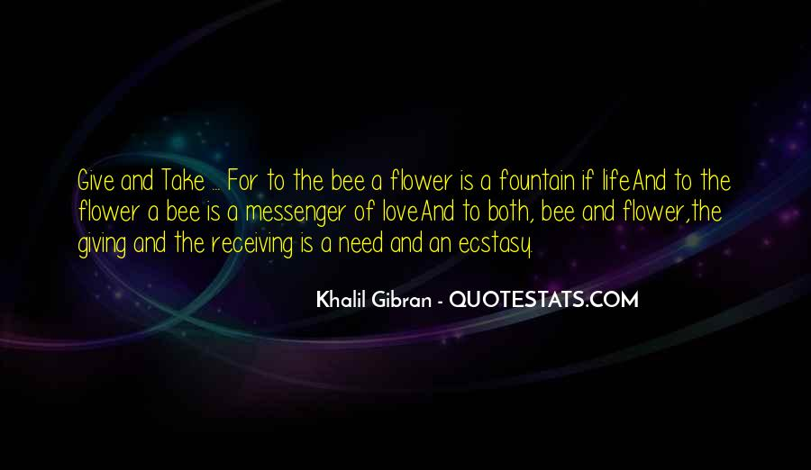 Flower And Bee Quotes #227462