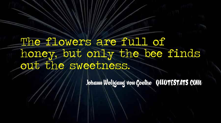 Flower And Bee Quotes #2808