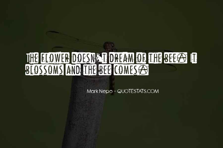 Flower And Bee Quotes #699629
