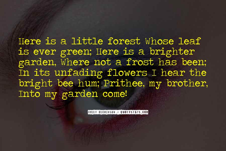 Flower And Bee Quotes #979828