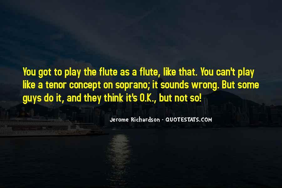 Flute Quotes #207977