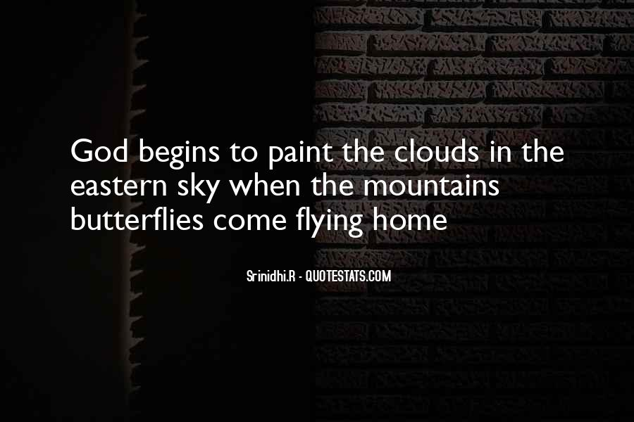 Flying Over Clouds Quotes #999911