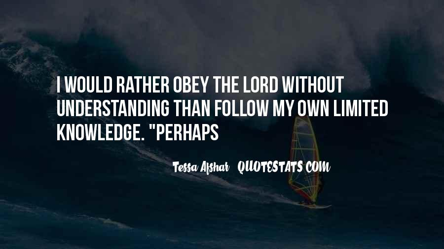 Follow The Lord Quotes #933753