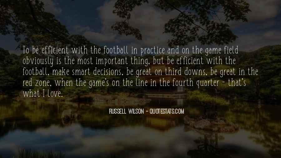 Football Fourth Quarter Quotes #169707