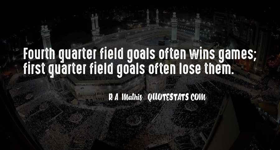 Football Fourth Quarter Quotes #26817