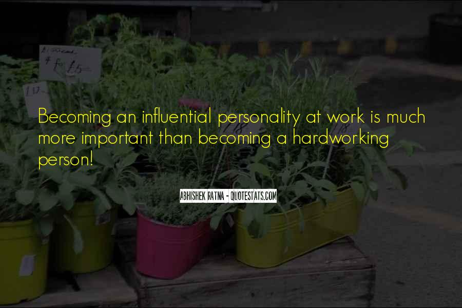 Quotes About Hardworking #974474