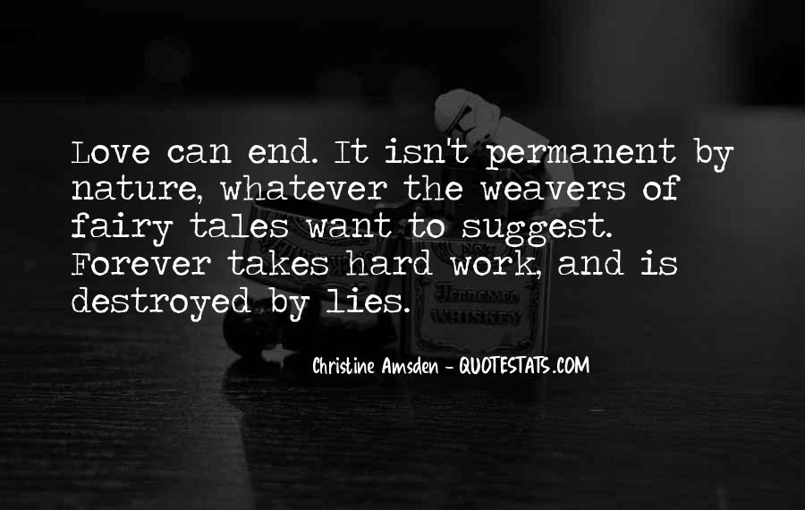 Forever Until The End Quotes #103005
