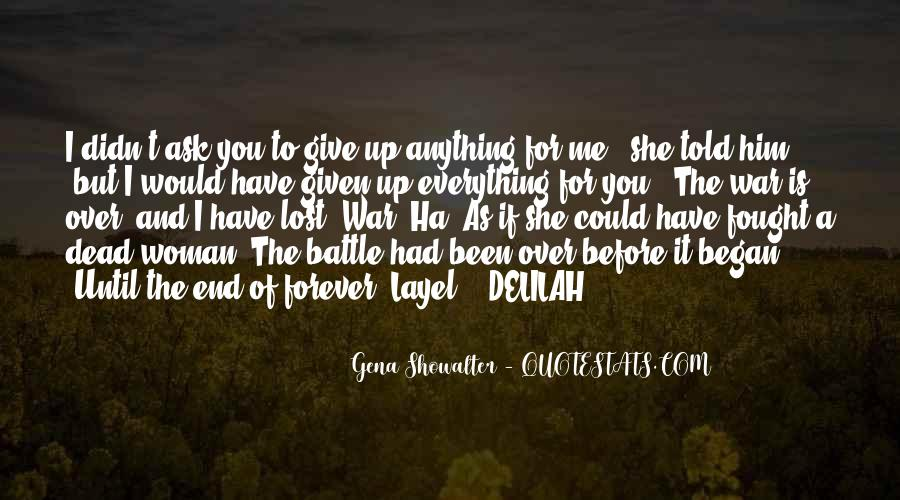Forever Until The End Quotes #1184765