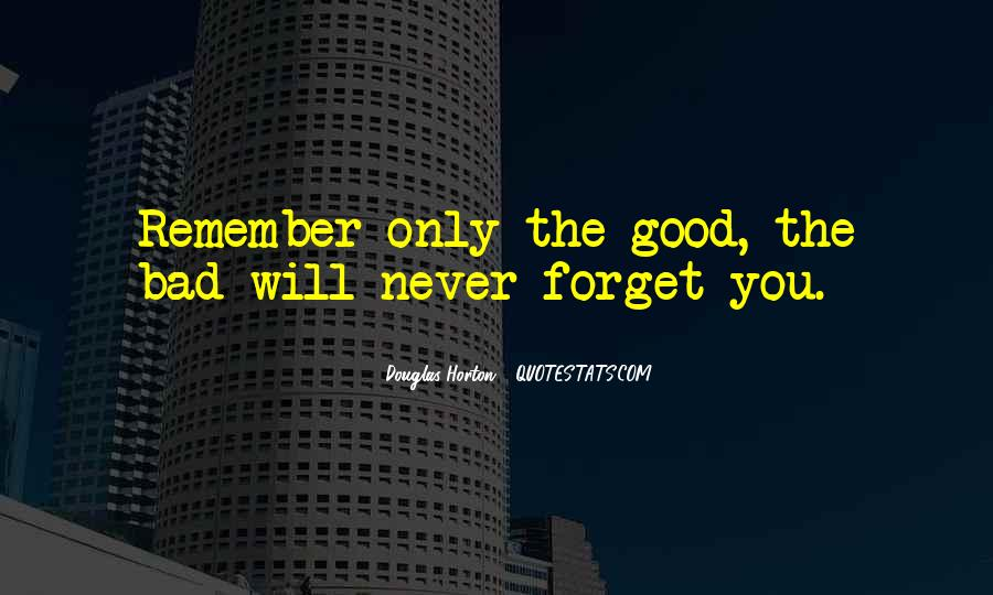 Forget You Never Quotes #230173