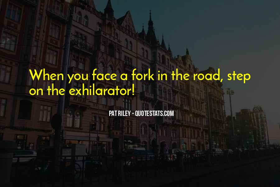 Fork In Road Quotes #488476