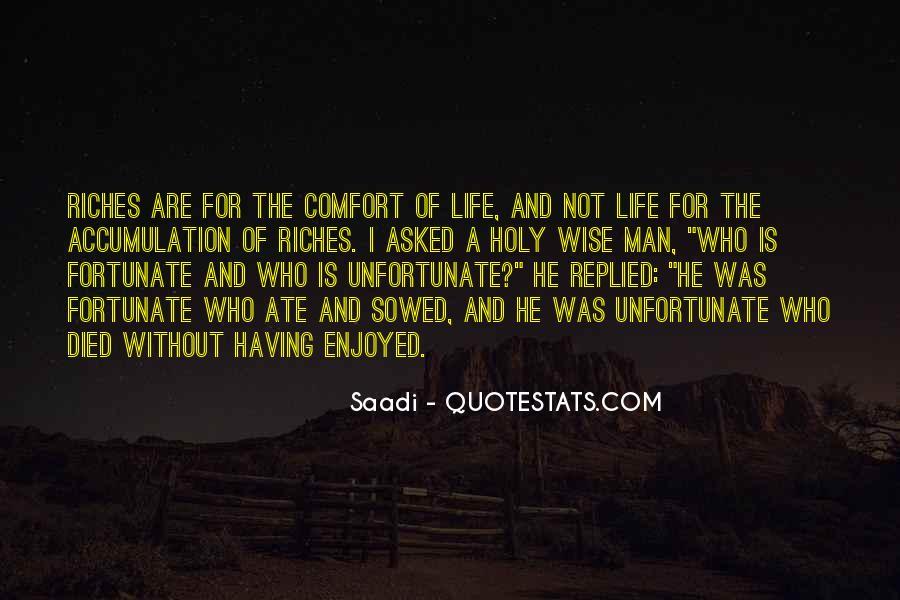 Fortunate Unfortunate Quotes #429028