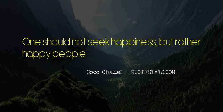 Quotes About Happiness Coco Chanel #1044311