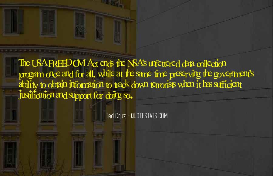 Freedom Of Information Act Quotes #1036930
