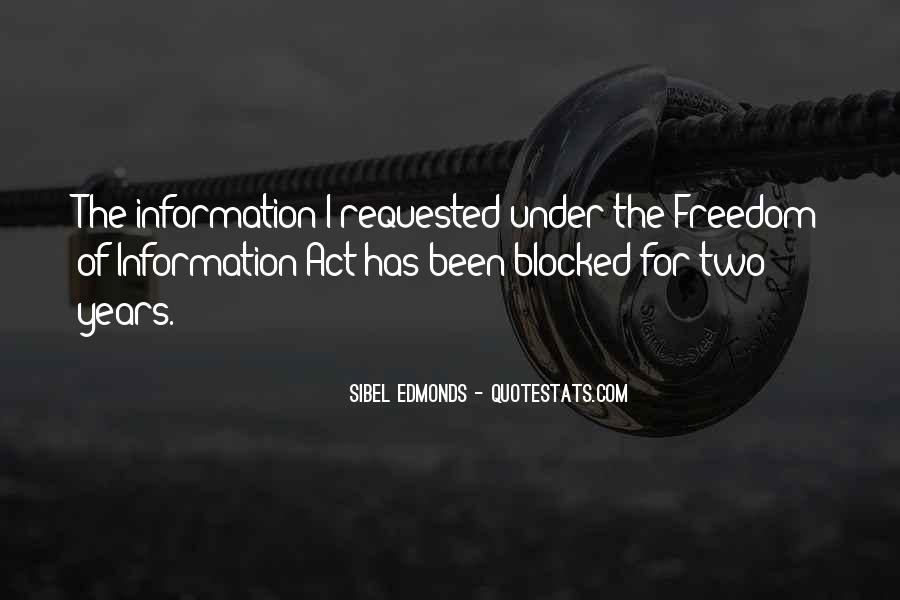 Freedom Of Information Act Quotes #750409
