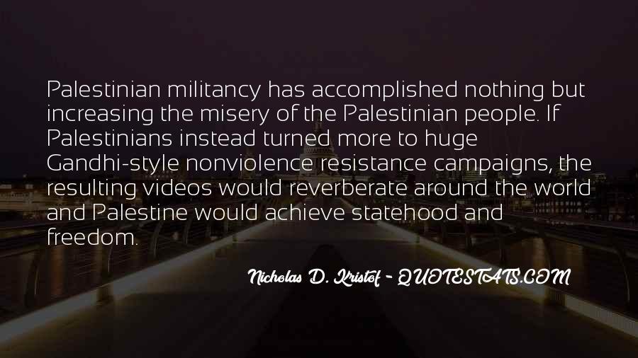 Freedom Of Palestine Quotes #1040825