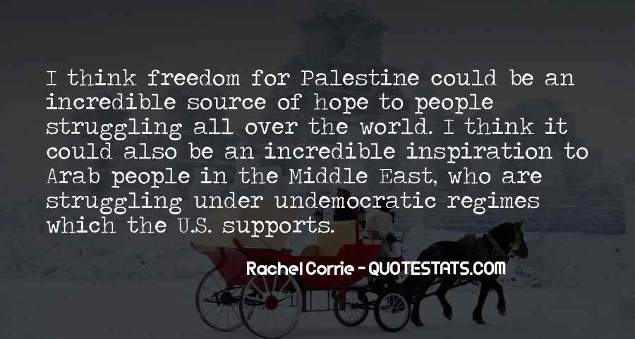 Freedom Of Palestine Quotes #1126795