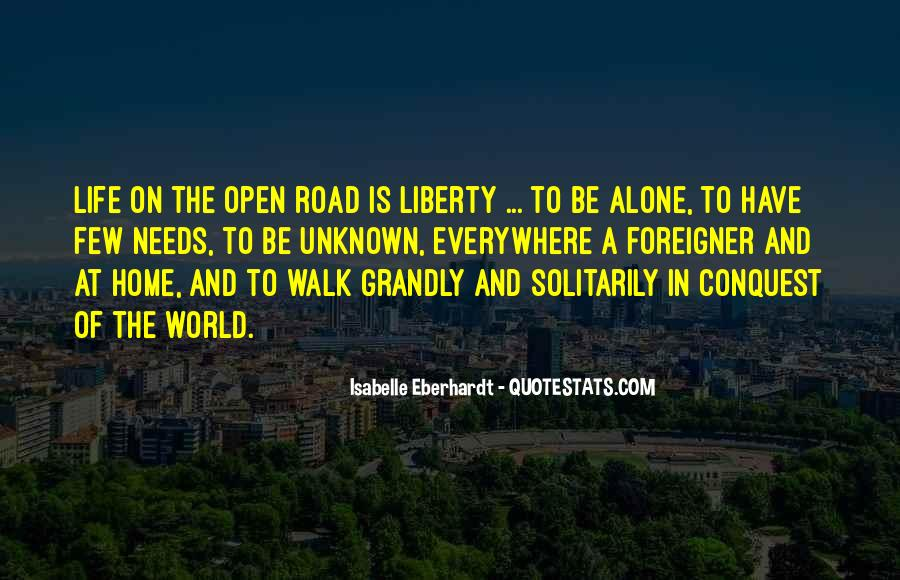 Freedom Of The Road Quotes #95875
