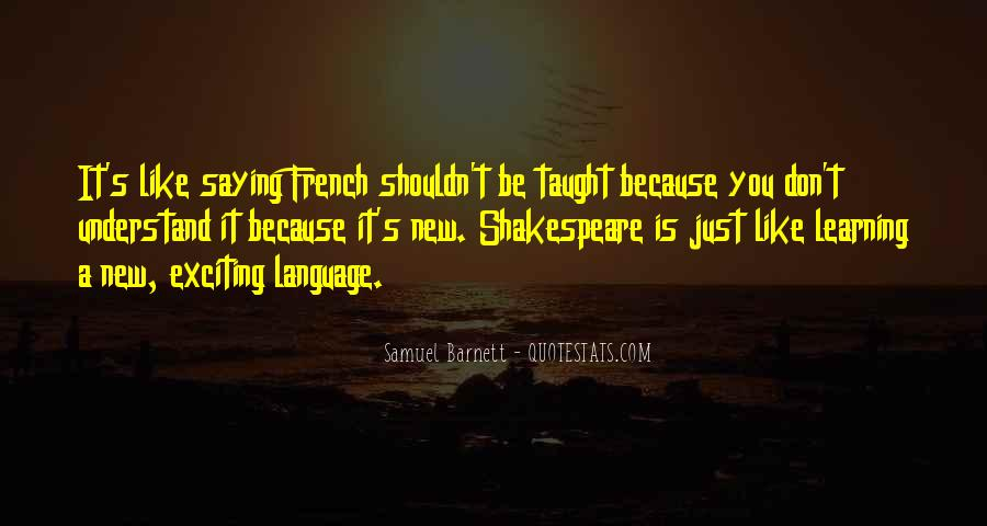French Language Learning Quotes #792956