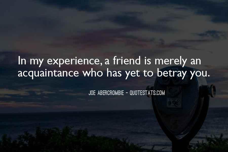 Friend Vs Acquaintance Quotes #868536