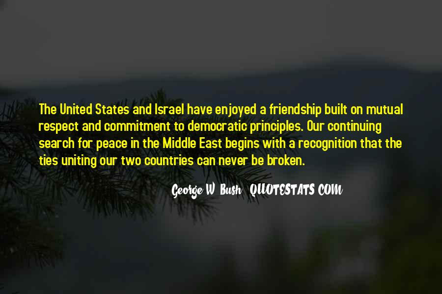 Friendship Between Countries Quotes #1194525