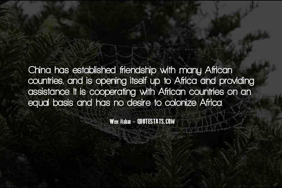 Friendship Between Countries Quotes #1479600