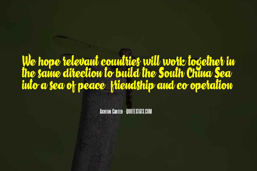 Friendship Between Countries Quotes #245243