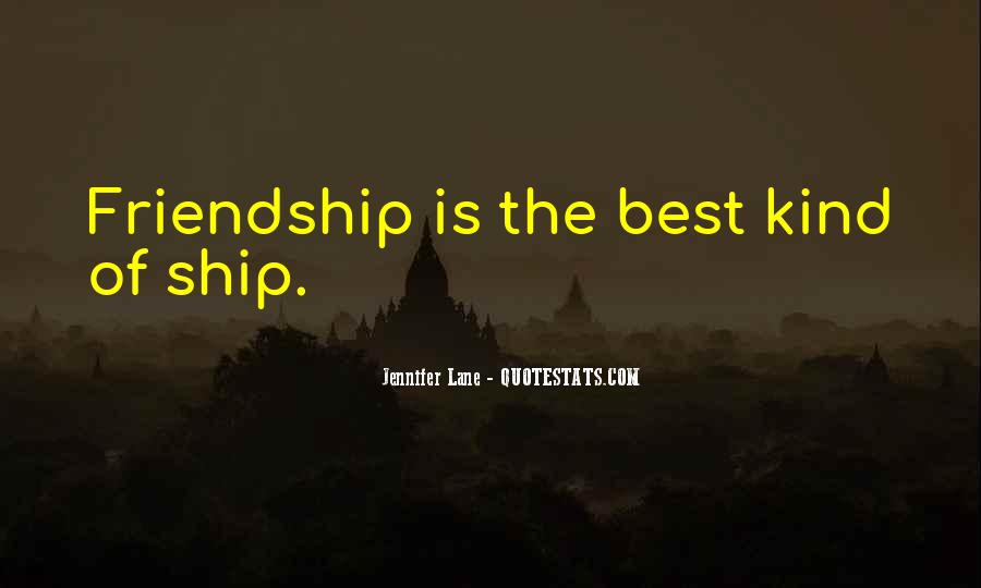 Friendship Ship Quotes #212789
