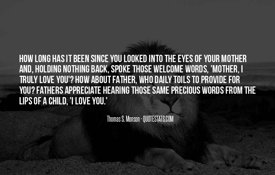 From Mother To Father Quotes #63445