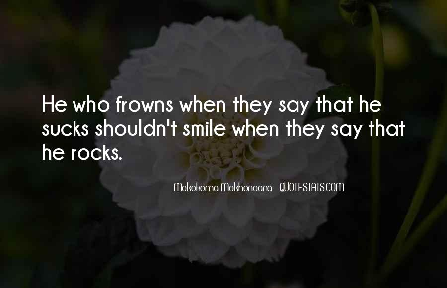 Frown Quotes #26345
