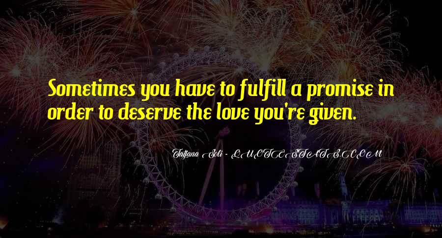 Fulfill Love Quotes #665622