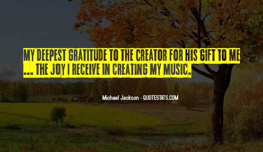 Quotes About The Gift Of Music #1214119