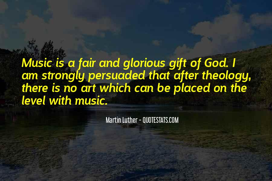 Quotes About The Gift Of Music #367179