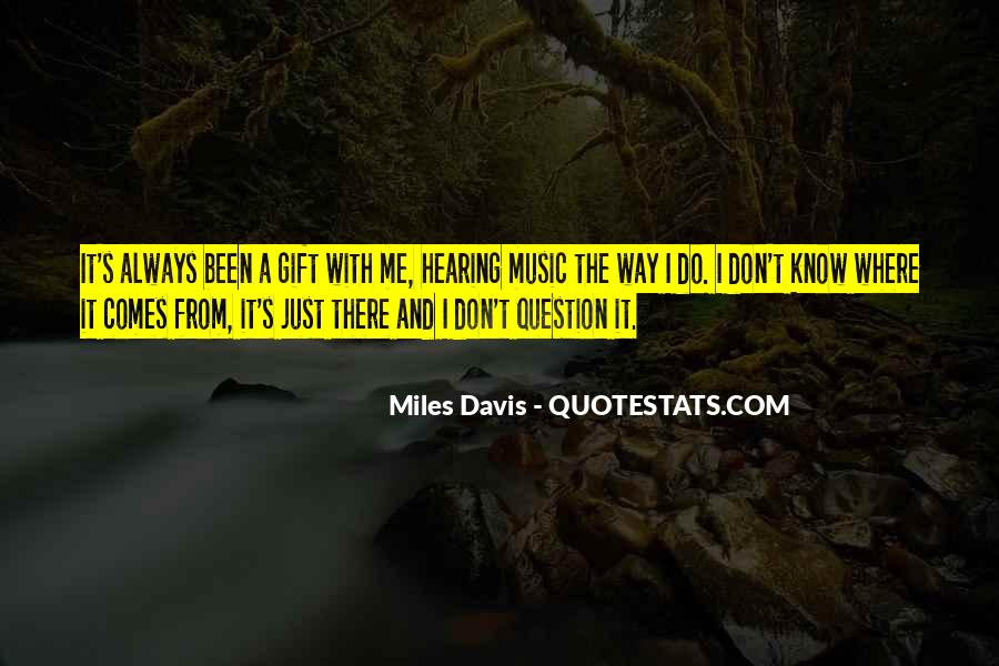 Quotes About The Gift Of Music #998381